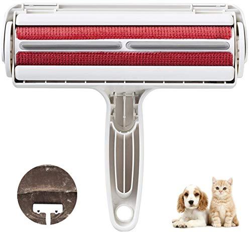 BTkviseQat Tierhaarentferner Fusselrolle, Fusselbürste Fusselrolle für Hundehaare Katzenhaare, Tierhaar fusselroller Wiederverwendbar für Möbel, Couch,Teppich,Bettwäsche und mehr