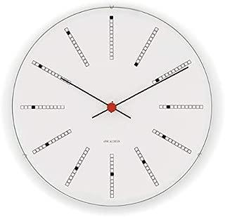 [アルネ・ヤコブセン] Clock 43640(Bankers 290mm) ホワイト FREE