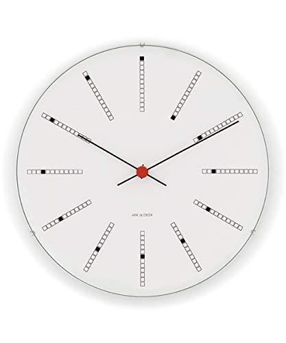 [アルネ・ヤコブセン] Clock 43630(Bankers 210mm) ホワイト FREE