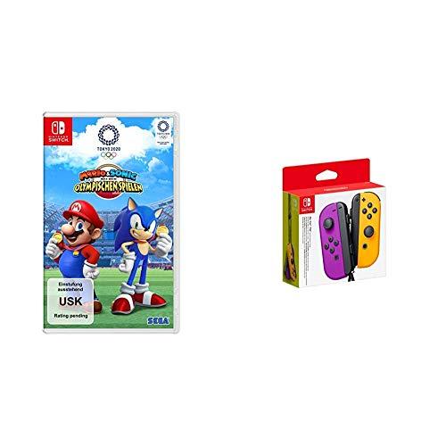 Mario & Sonic bei den Olympischen Spielen: Tokyo 2020 [Nintendo Switch] + Nintendo Joy-Con 2er-Set, neon-lila/neon-orange