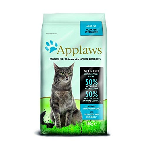 Applaws cat adult droog ocean fish/salmon kattenvoer 350 GR