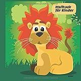 Malbuch für Kinder Löwe: Malheft | Zeichenheft ab 2 Jahren: Tiere im Zoo, Dschungel, Wald zum ausmalen. Kinder Malbuch zum Malen und Kritzeln. Für Mädchen und Jungen. Grün