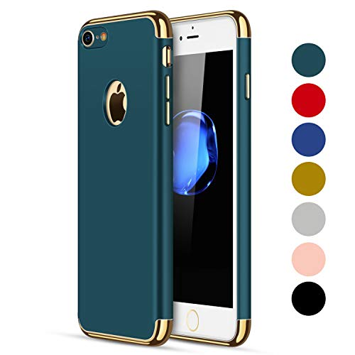 NAISU iPhone 7 Case/iPhone 8 Case, iPhone 7/8 Back Cover, Ultra Slim & Rugged Fit Shock Drop Proof Impact Resist Protective Case, 3 in 1 Hard Case for Apple iPhone 7/8 - Dark Green