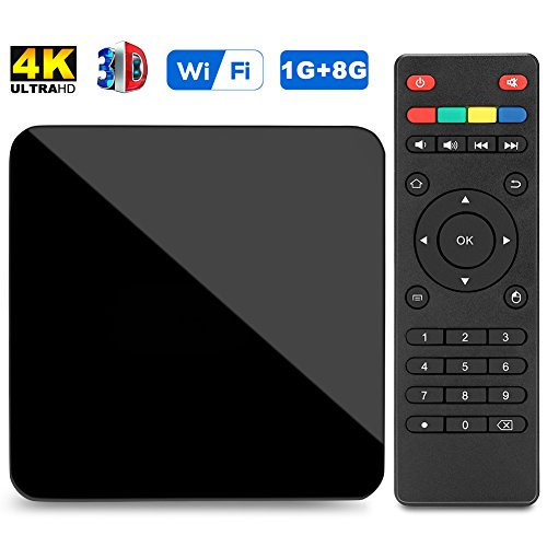 Richenfull Android TV Box Amlogic S905X Android 6.0 Smart Movie Box 1G/8G Supports True 4K Playing Perfect for Home Entertainment