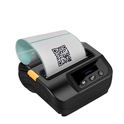 QCHEA 80mm de Mano Mini Bluetooth portátil y la Impresora de Recibos 4.0, USB móvil de la Impresora térmica de Recibos, impresión de Alta Velocidad Compatible con Android/iOS/Windows comandos Set