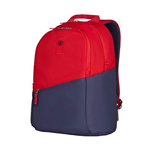 Wenger Criso Laptoprucksack - 16'' Laptopfach Schnellzugriffsfach Organizer Unisex Damen/Herren - Rot/Blau