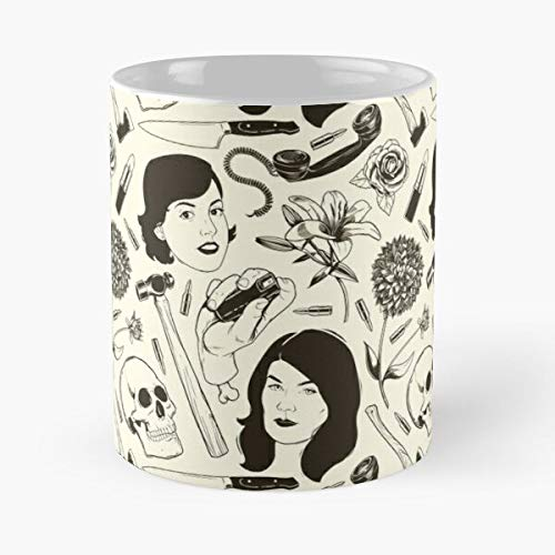Mfm Murder Georgia Pattern Crime Ssdgm My Karen Favorite Murderino True The Best Taza de café de cerámica blanca de 315 ml