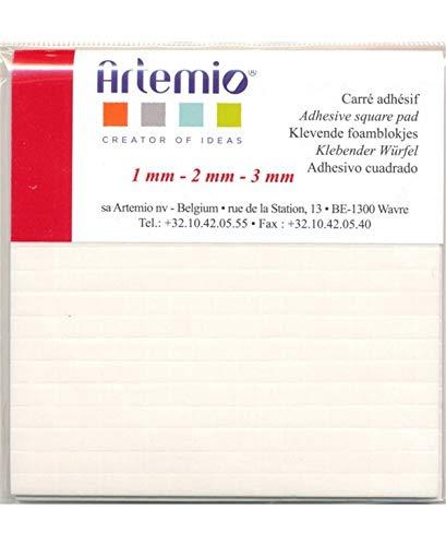 Artemio Lijm, dubbelzijdig schuim, kunststof, wit, 0,7 x 9,8 x 12,6 cm