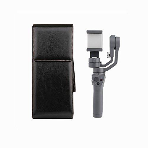 SHEAWA DJI Osmo Mobile 2 ケース バッグ PUレザー キャリーケース ストラップ付 耐衝撃 二色あり(ブラック)