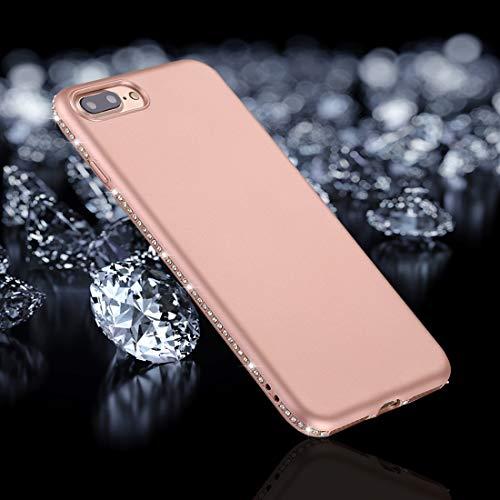 BANAZ Teléfono for el iPhone Plus 8 y 7 Plus Cristal Esmerilado decoración Lados TPU de protección Cubierta Posterior (Color : Rose Gold)