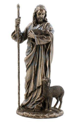 Wu Jesús el Buen Pastor Estatua Escultura 111/2 (Bronce)