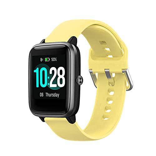 Hoopyeecase ID205L Reemplazo Correa Compatible con LETSCOM, Letsfit, LIFEBEE y Willful Smart Watches. Suave Silicona Deporte Ajustable Reemplazo Pulsera Banda Accesorio for ID205L Smartwatch