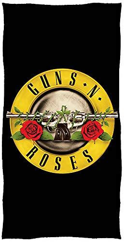 Guns N' Roses Hard-Rock-Badetuch 70x140 cm Axel Rose Slash Duff McKagan Richard Fortus Sweet Child O' Mine November Rain Paradise City Dizzy Reed Strandtuch Badelaken Saunatuch Strandlaken Duschtuch