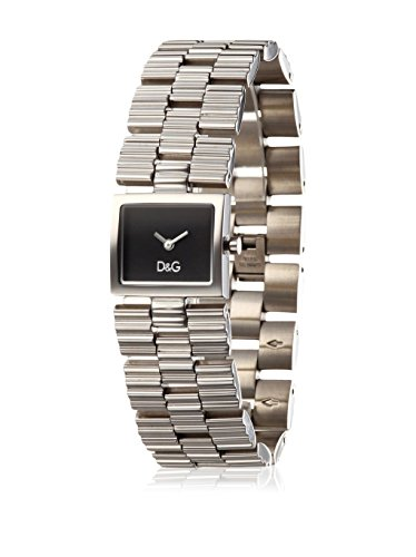 D&G Damen Analog Quarz Uhr mit Edelstahl Armband DW0339_Negro