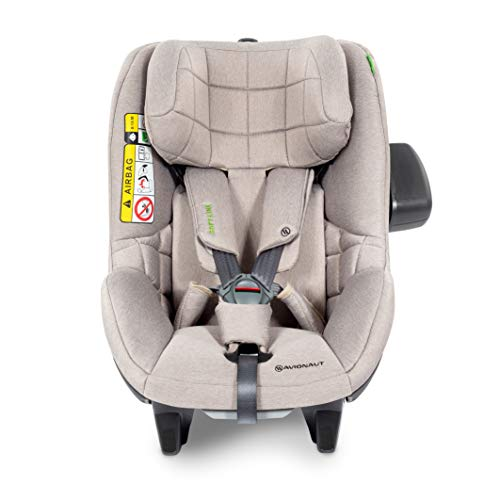 Avionaut AeroFIX RWF Soft Line Kindersitz, Reboarder (gegen Fahrtrichtung), Kinder-Autositz Gruppe 1 (9-17,5 kg, 67 cm - 105 cm), nutzbar ab ca. 6 Monate - 4 Jahre, Beige Melange