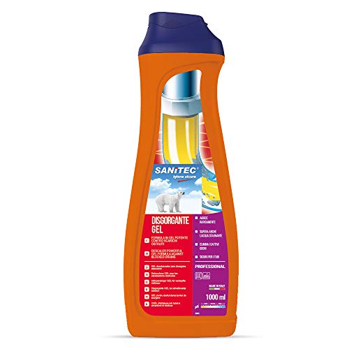 Sanitec Disgorgante Gel, per Scarichi Ostruiti, 1000 ml