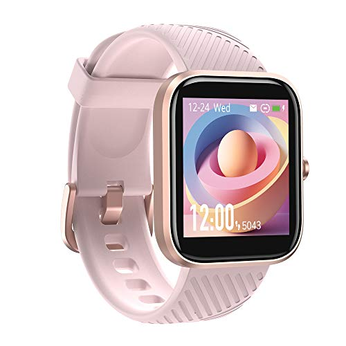 Smart Watch, Virmee VT3 Fitness Activity Tracker with Heart Rate Monitor Blood Oxygen Meter Sleep Step Tracking, IP68 Waterproof, for Men Women, Compatible with iPhone Samsung Android Phones, Pink