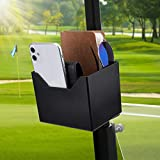 kemimoto Golf Cart Organizer Tray, Magnetic Caddy Holder for Golf Cart, Tractor, Truck, Lawn Mower, Skid Steer Bus Cup Drink Holder Storage Water Bottle, Beer, Cans, rangefinder