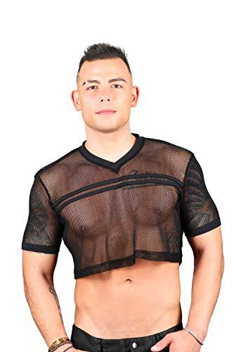 Andrew Christian Club T-Shirt für Fußball - Schwarz - Groß