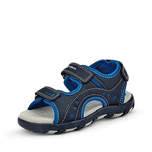Geox Unisex - Kinder Sandalen JR Sandal PIANETA, Klettverschluss junior Kleinkinder Kinder-Schuhe toben Spielen verspielt,Navy,30 EU / 11.5 UK Child