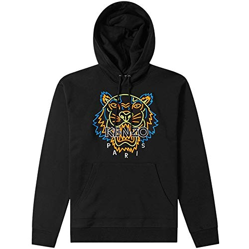 Kenzo Neon Tiger Gesicht Hoodie EXTRA SMALL Black