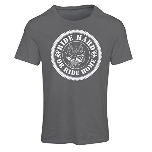 Frauen T-Shirt Ride Hard! Biker Clothing (XX-Large Graphit Mehrfarben)
