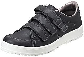 [ムーンスター] メンズ/レディース リハビリ 介護靴 Vステップ07 (両足同サイズ) ブラック 24 cm 3E
