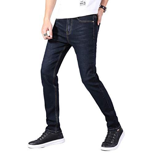 Pantalones de Hombre Ropa de Calle Pantalones de Trabajo Diarios para Caminar Pantalones de Trabajo Pantalones de Trabajo Slim Thin Summer Trend Stretch Classic Regular-fit Jeans 36