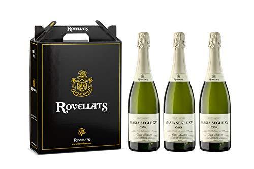 Cava Rovellats - 3 botellas Gran Reserva Masia S.XV Brut nature 2011- D.O. CAVA- Xarel·lo, Macabeo, Parellada y Chardonnay- Reserva limitada- 75 cl