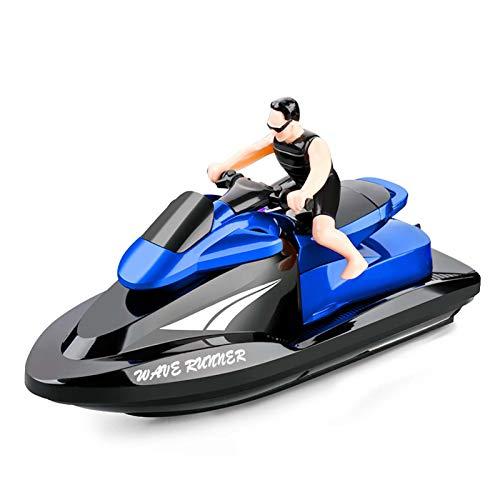 Goolsky 809 RC Motorboot RC Boot Hochgeschwindigkeitsfernbedienungsboot für Pools Lakes 2,4 GHz Wasserdichtes Spielzeug für Kinder Jungen und Mädchen