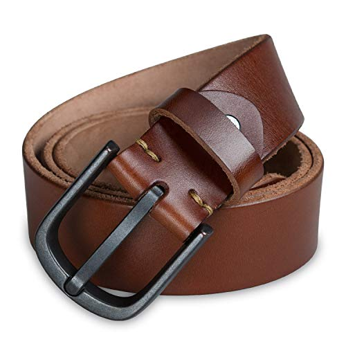 Covvy Men's Leather Belt, Genuine Leather Dress Belts for Men with Buckle