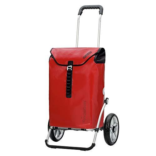 Andersen Shopper Royal mit Kugellager Alu klappbar mit Kugellagerrad Ø 25cm und 49 Liter Tasche Ortlieb rot