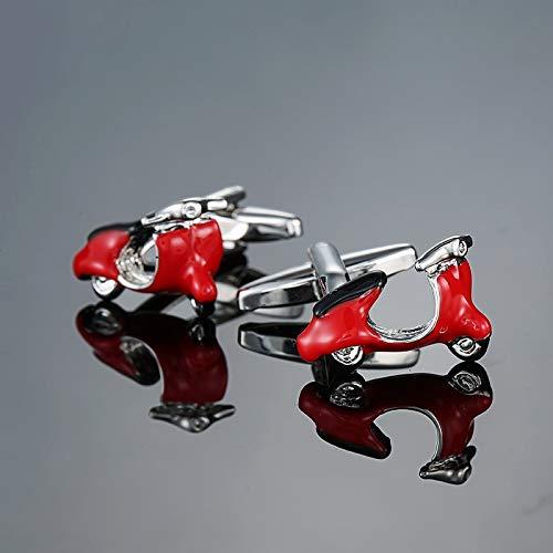 QHKS Hoge kwaliteit mannen reeks andere rode Manchetknopen/bril/cola fles/Cross/music symbolen/brandblusser Manchetknopen (Metal color : 9)