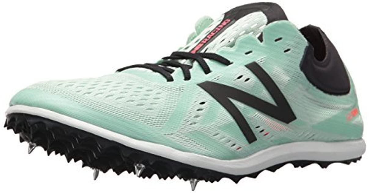 国段階構造New Balance Women's LD5v5 Track-Shoes Seafoam/Vivid Coral 11.5 B US [並行輸入品]