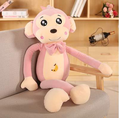 COJKb Monkey Plush Toy Long Arm Monkey Doll Doll Cute Little Monkey Ugly Doll Doll Boy Girl Regalo de cumpleaños Rosa 85Cm