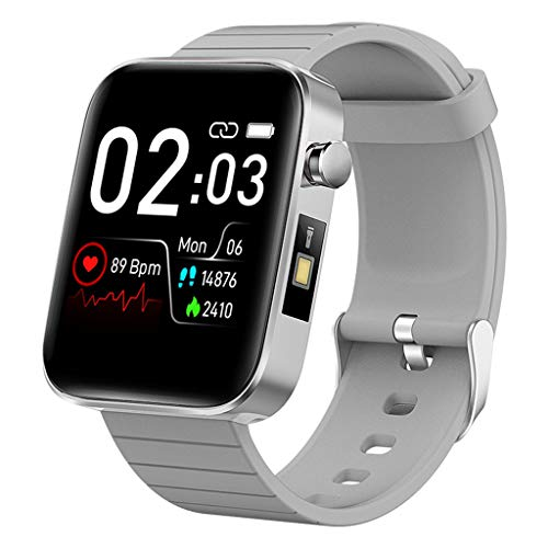APCHY Smartwatch Impermeable Reloj,Monitores De Actividad De Monitoreo De Temperatura Corporal,Pulsera De Fitness Deportivos Pulsera Usable,Monitor De Frecuencia Cardíaca,Notificación De Mensaje,E