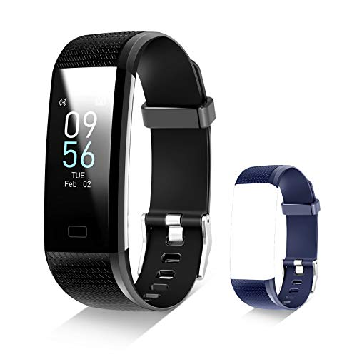 Fitness Tracker with Connected GPS Activity Tracker with Blood Pressure Fitness Band Waterproof Smart Fitness Band with Step Counter, Calorie Counter,Pedometer Watch for Women and Men