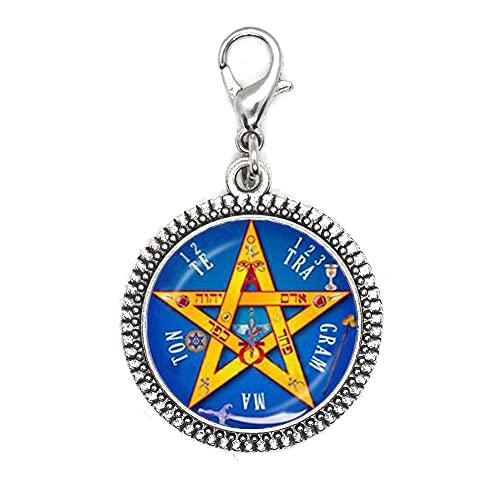 Pentagrama cierre de cremallera, Pentáculo Ne, Pentagrama cierre de langosta, Wiccan, joyería espiritual, cierre de langosta de Pentáculo, Pagan, regalo para ella, regalo de cumpleaños -JV73