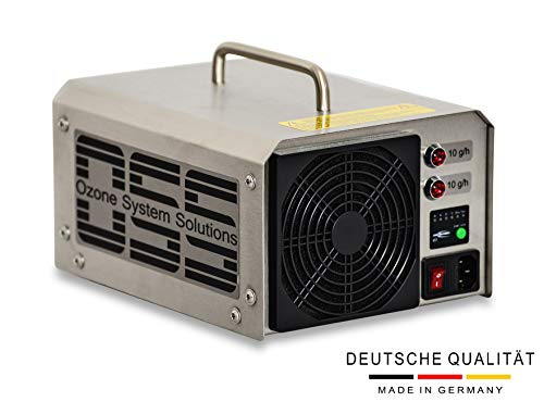 OSS Twenty O³ Plus mit UV Licht | UV Ozongenerator mit 20000 mg/h bzw. 20 g/h Ozonleistung | MADE IN GERMANY | Telefonsupport | OSS Ozongeneratoren entfernen Gerüche, Bakterien und Viren zuverlässig