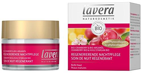 lavera Bio Soin de Nuit Régénérant Canneberge • Phytocollagène • Vegan • Cosmétiques naturels • Ingrédients végétaux bio • 100% naturel 50 ml