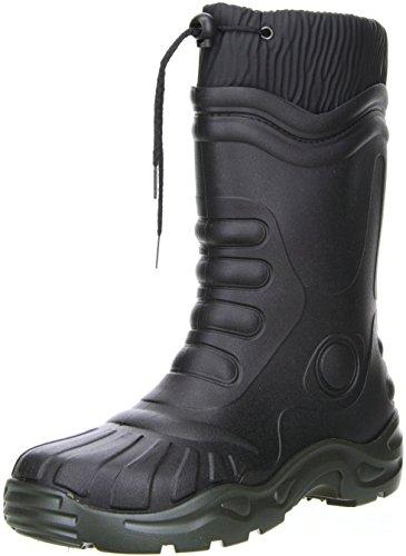 G&G Damen Herren gefütterte Gummistiefel Winterstiefel Regenschuhe schwarz, Größe:42, Farbe:Schwarz