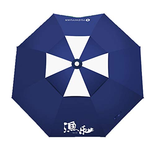JIY Angelschirme New Fischereiregenschirm Universal regenfesten Fischereiregenschirm Sonnencreme Fischregenschirm dicken Regenschirm Fanggeräte Regenschirm/Sonnenschirm (Color : A, Size : 200cm)