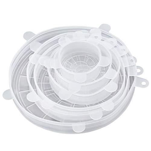 YILANS Siliconen Stretch Deksels, 6 Stks Voedsel Bowl Covers Herbruikbare Cover Wrap in diverse maten voor mokken blikjes Fruit Geschikt voor Magnetron Oven Koelkast Vaatwasser