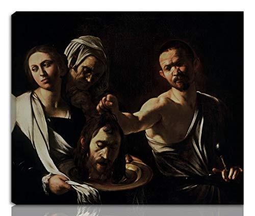 Berkin Arts Caravaggio Gedehnt Giclee Auf Leinwand drucken-Berühmte Gemälde Kunst Poster-Reproduktion Wand Dekoration Fertig zum Aufhängen(Salome mit dem Kopf von John The Baptist)#NK
