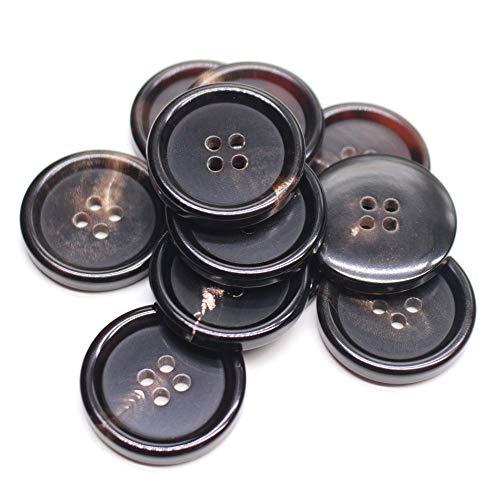 YaHoGa 10 piezas 25 mm botones de cuerno auténtico para Blazers trajes...
