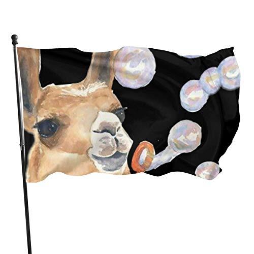 Viplili Banderas Seasonal A Bubble-Blowing Alpaca Garden Flag, Demonstration Flag - 3 X 5 Ft