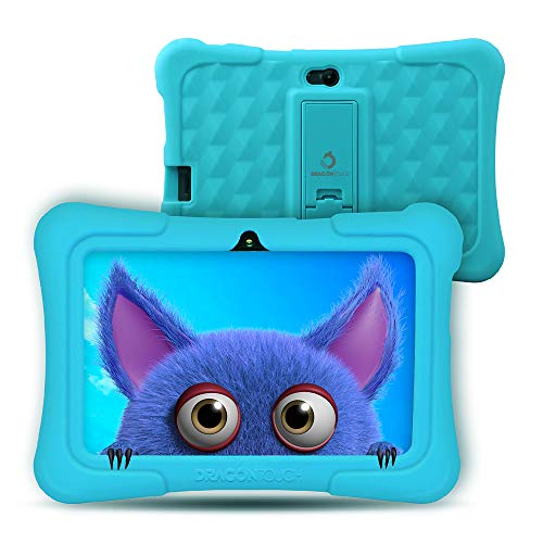 Dragon Touch Y88X PRO Tablet per Bambini 7 Pollici Android 9.0 Quad Core 2 GB RAM 16 GB Rom Wi-Fi e Bluetooth IPS HD 1024 * 600 Kidoz e Google Play preinstallato con Kid-Proof Custodia (Blu)
