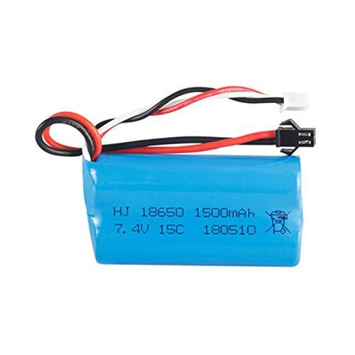 RFGTYH Batería lipo de 7,4 V 1500 mAh para YDI U12A para Syma S033g Q1 para TK H101 RC Juguetes Barcos Coches Drone Parte batería y Cargador Gold