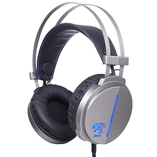FOR ME Cuffie Gaming Over Ear Cuffie da Gioco Ave Microfono 3.5 mm Jack Bass Gamer Headphone Stereo Audio Surround Cuffia Gaming Headset per PC Tablet