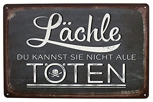 Hioni Lächle Du Kannst Sie Nicht Alle Töten Vintage Blechschild Poster Wandschild Wand Dekoration Metallschild Türschild